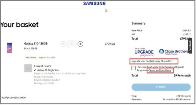 Vente de smartphones Samsung