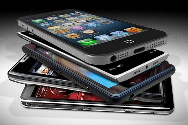 Стопка смартфонов