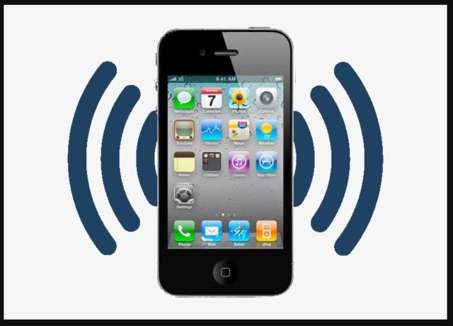 Значок смартфона с вибрацией