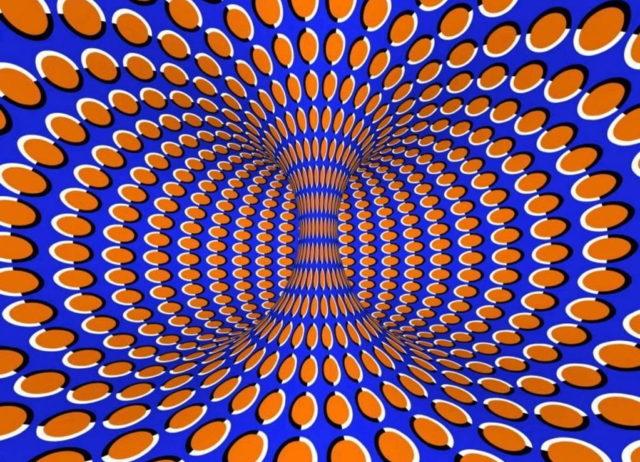 Иллюзия с условно вращающейся колонной