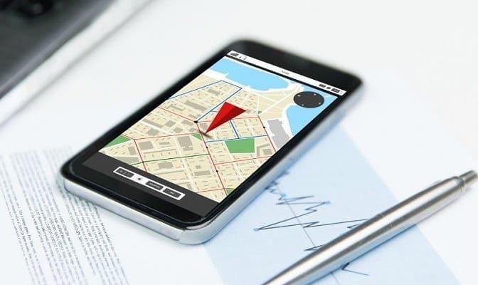 Смартфон с геолокацией