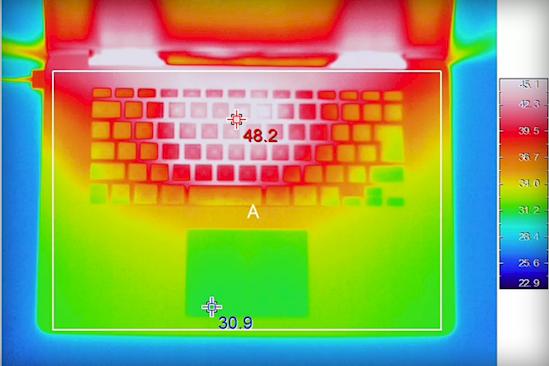Анализ теплопроводности ноутбука