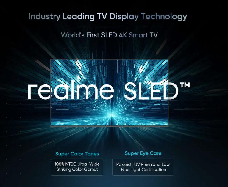 Реклама новой технологии Realme