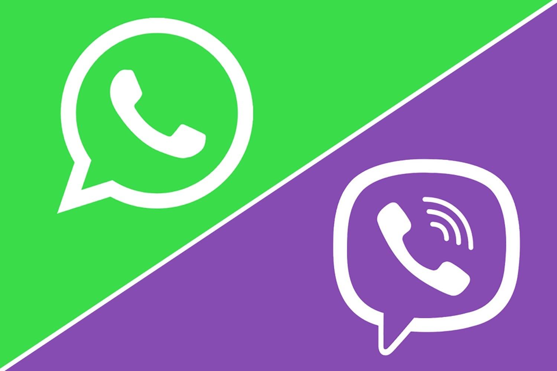 Логотипы мессенджеров WhatsApp и Viber