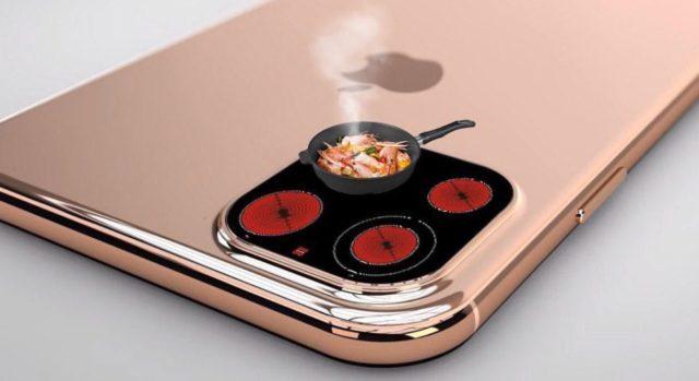 Сковородка на камере Айфона