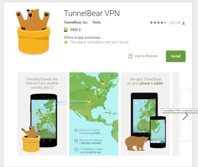 VPN TunnelBear