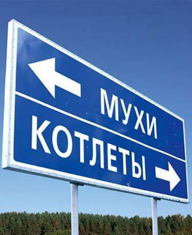 Дорожный указатель населенных пунктов