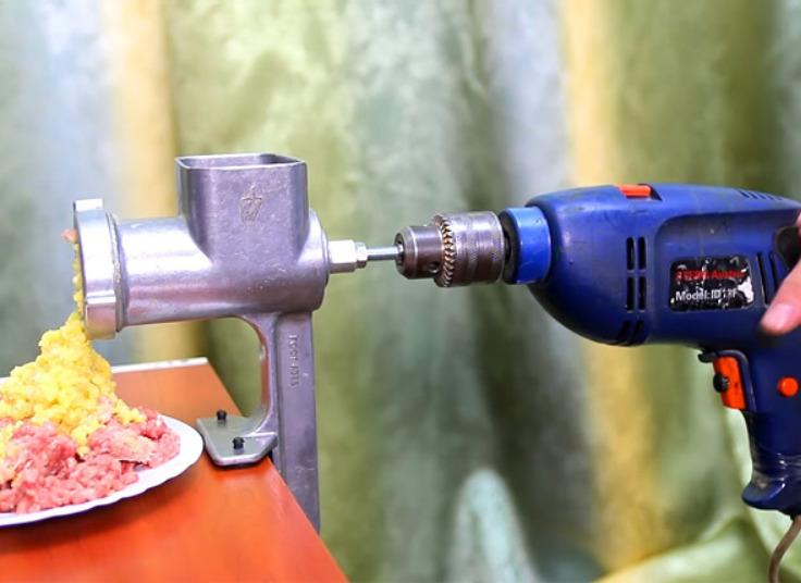 Мясорубка работающая от электродрели