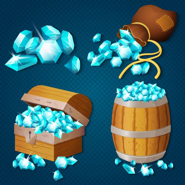 Алмазы в игре