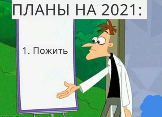 """Карикатура """"Планы на 2021 год"""""""