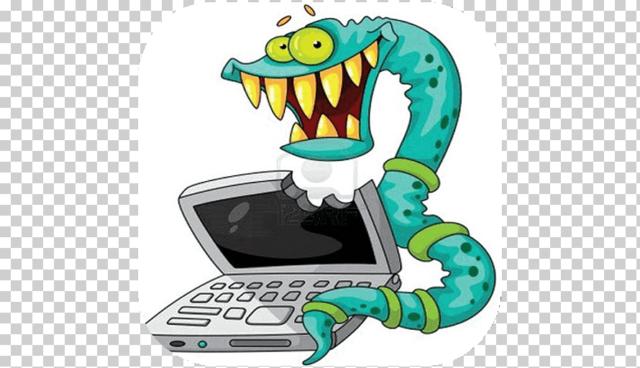 """Рисунок """"Змейка откусила компьютер"""""""