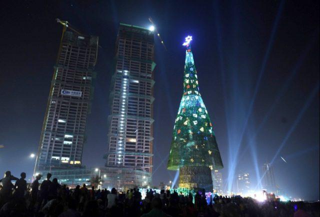 Новогодняя елка в Коломбо