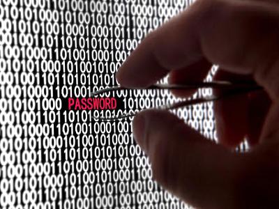 Password среди шифров и рука с пинцетом