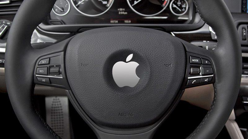 Значок Apple на рулевом колесе