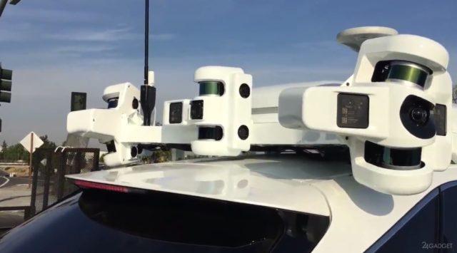 Система автопилотирования Apple на крыше автомобиля