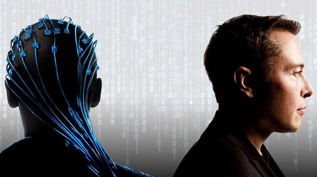Илон Маск и человек с датчиками на голове