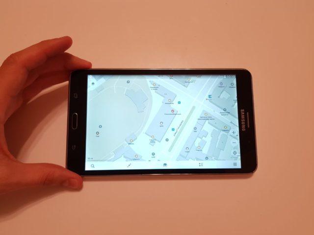 Карта местности в смартфоне