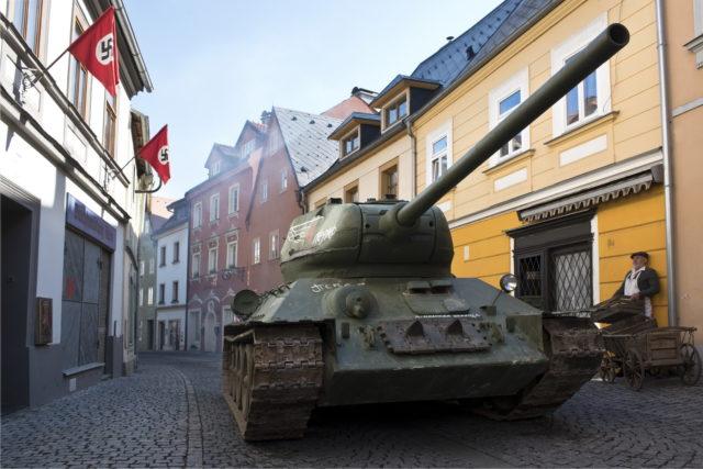Т-34 на немецкой улице