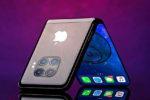 Виртуальный рендер первого гибкого смартфона Apple
