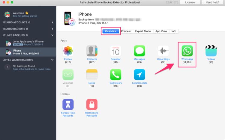 Запуск iPhone Backup Extractor