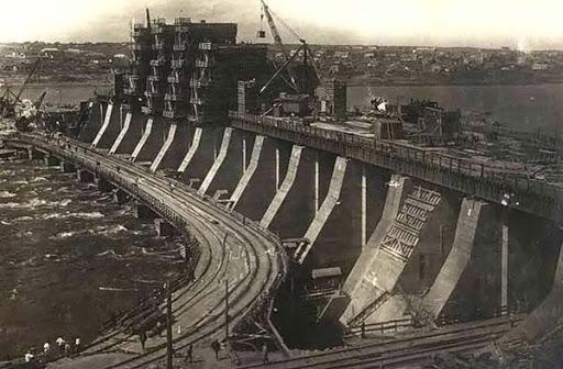 Строительство Днепрогэс
