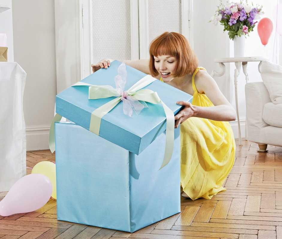 Большая коробка-сюрприз для женщины