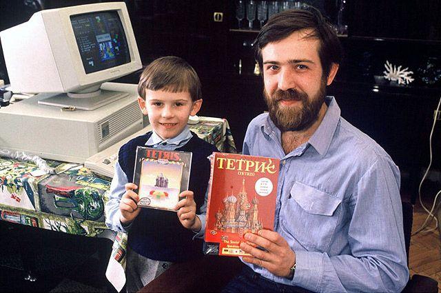 Создатель Тетриса с сыном