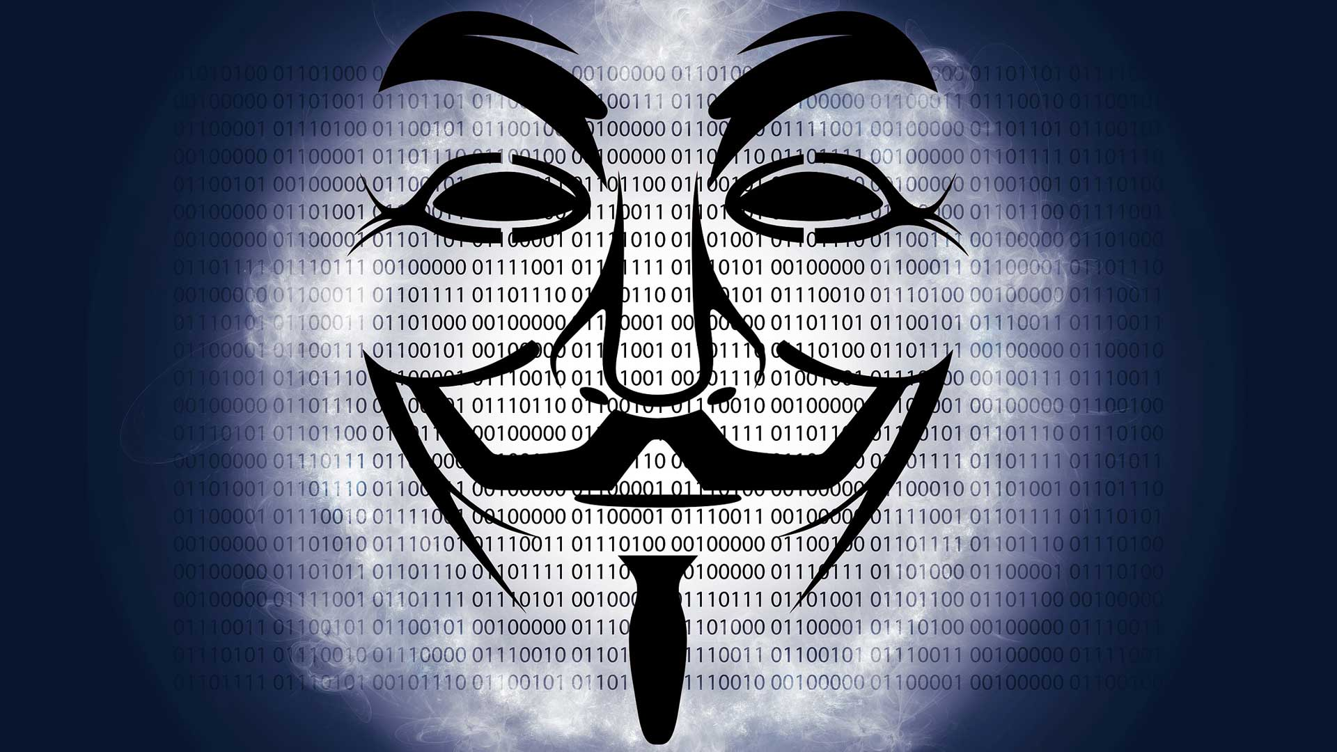 Цифровая матрица и маска на переднем плане