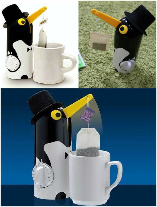 Пингвин-держатель пакетиков для приготовления чая