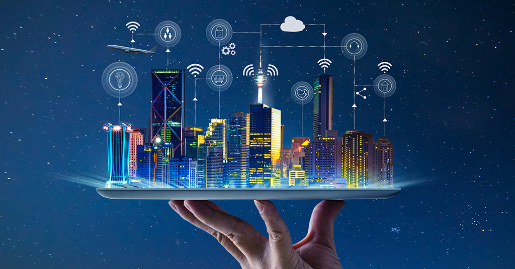 Город будущего на руке