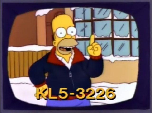 """Кадр из м/ф """"Симпсоны"""" и номер телефона с буквами и цифрами"""