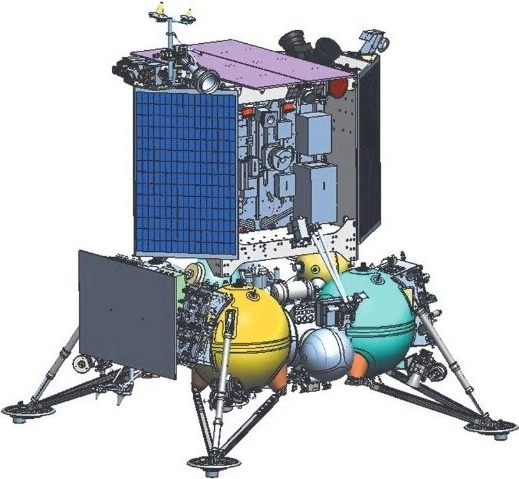 Схема космического аппарата «Луна-25»