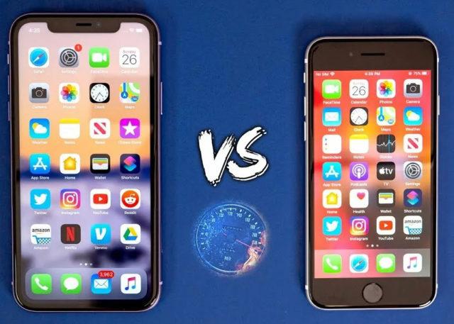 Сравнение с iPhone 11