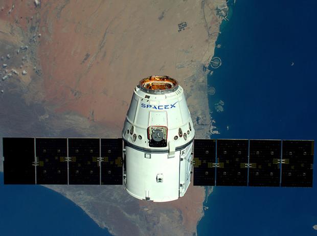 Спутник Space X на орбите