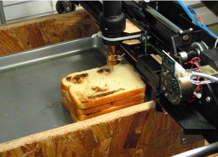 Печать принтера на тосте