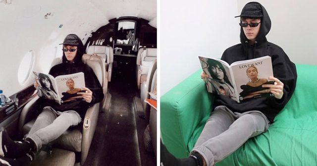 Блогер после и до фотошопа в самолете