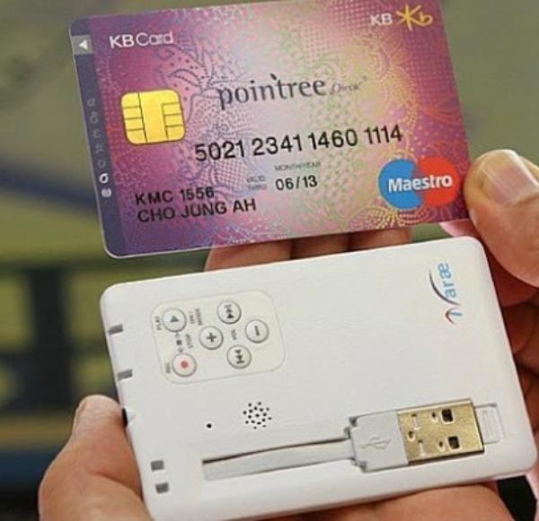 Диктофон в виде кредитки