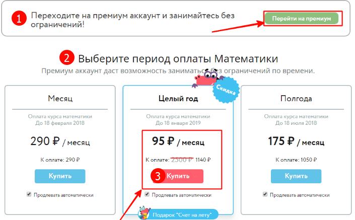 Покупка подписки на Uchi.ru
