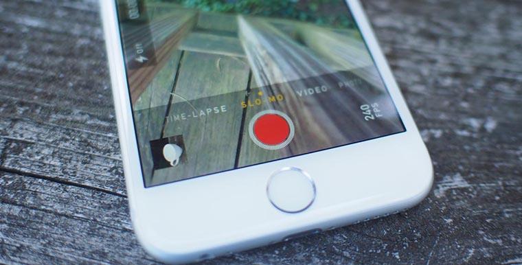 Режим замедленной съемки slo-mo на iPhone