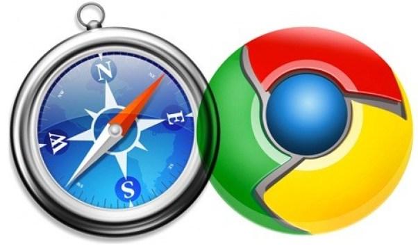 Логотипы Safari и Chrome рядом