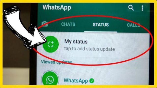 Настроечное меню в WhatsApp