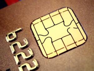 Чип бесконтактной оплаты банковской карты