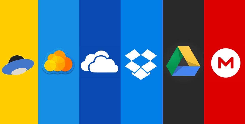 Значки разных облачных сервисов
