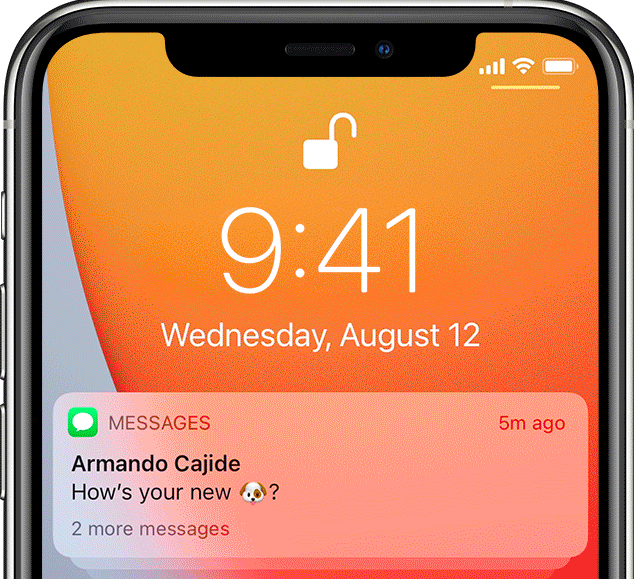 Сообщение на смартфоне
