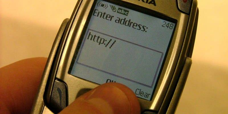 Введение электронного адреса в мобильном телефоне