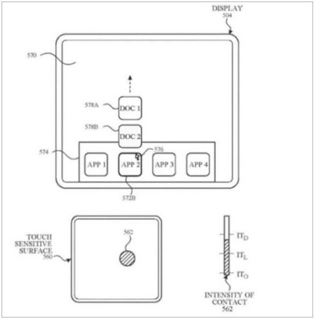 Патентная схема устройства смартфона Apple с исчезающими кнопками
