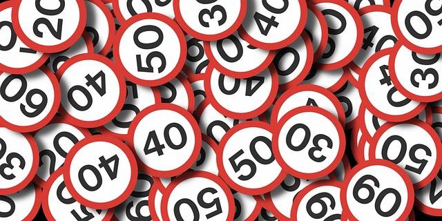 Дорожные указатели об ограничении скоростного режима