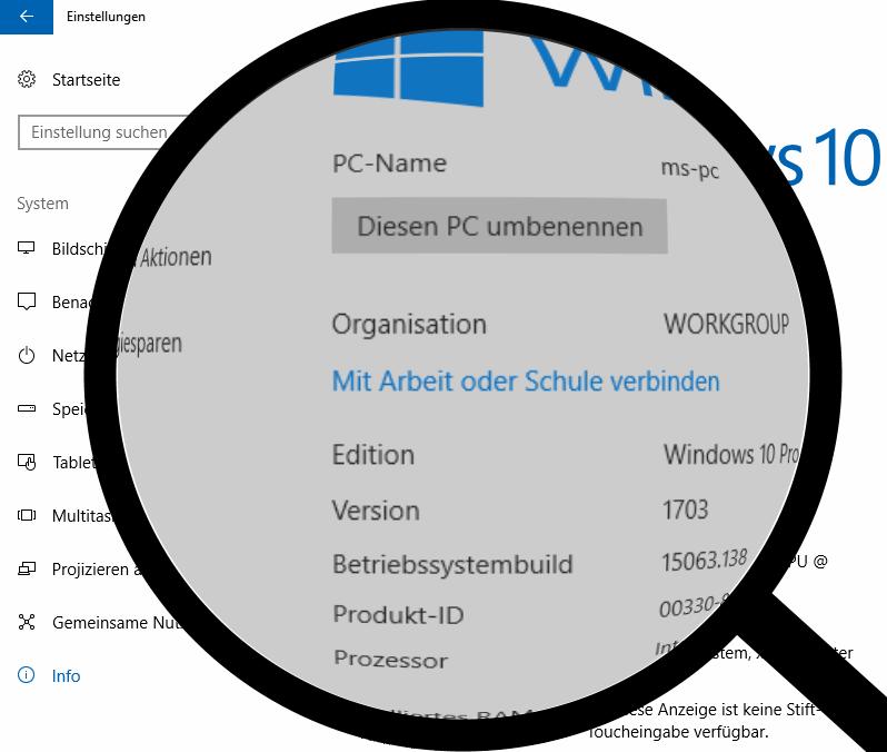 Windows через увеличительное стекло