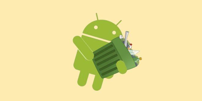 Android с мусорным ведром