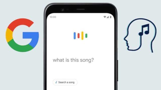 Значок Google, смартфон и голов с нотой